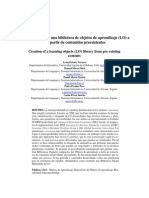 Generación de una biblioteca de objetos de aprendizaje (LO) a partir de contenidos preexistentes