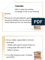 Pedagogy- Transfer Learning