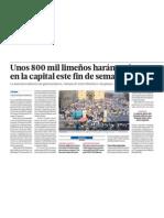 800,000 limeños harán turismo en Lima por Semana Santa