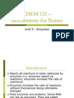 CHEM 121 Unit 5 Enzymes