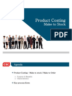 Product Costing - Make to Stock