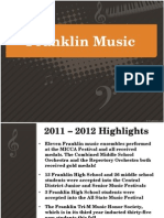 Franklin Public Schools MUSIC presentation 4/10/12