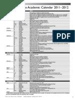Undergraduate Academic Calendar 2011 2012