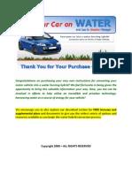 Run a Car on Water Part 1