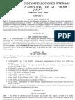 Reglamento de Las Elecciones Internas de La Acra Grande