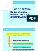 Modelos de Gestion Orientados a La Certificacion