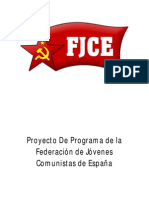 Programa de la Federación de Jóvenes Comunistas de España