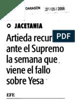 20060527 DAA Artieda Recurso