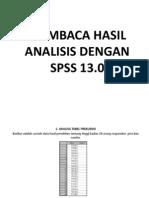 Membaca Hasil Analisis Dengan Spss