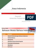 Bahasa Indonesia Tutorial 6 (Modul 5&6)