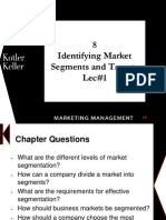 Identifying Market Segments and Targets-Lec1