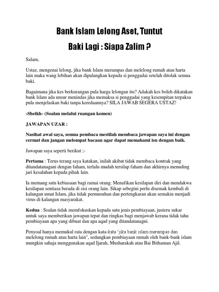 Bank Islam Lelong Aset