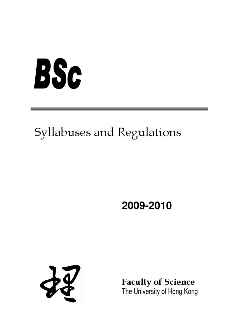 bsccourse2009 10 bachelor of science academic degree