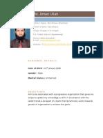 My Resume 2012