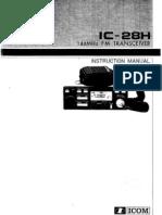 User Manual Icom Ic28h