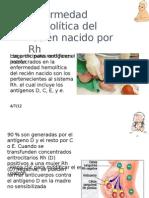 Enfermedad hemolítica del recién nacido por Rh