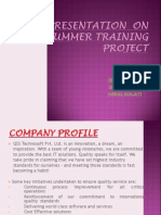 Presentation on Summer Training Project