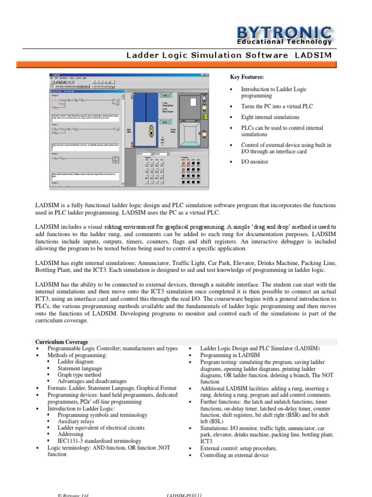 Ladsim Programmable Logic Controller Electronics On Off Relay