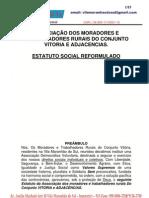 ESTATUTO DA ASSOCIAÇÃO DOS MORADORES E TRABALHADORES RURAIS DO CONJUNTO VITORIA E ADJACENCIAS