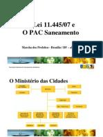 Lei11.445 07 PAC Saneamento