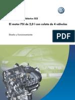 VW 322 Motor 2,0 L FSI con cuatro válvulas