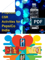 PepsiCo CSR Activities and Proposal for New CSR Activity