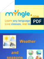 FOREIGN LANGUAGE LESSON - WEATHER AND SEASONS