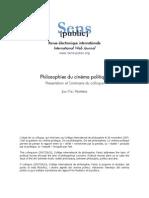 SensPublic Cinema Et Politique Presentation