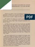 Armando de Ramón_Bautismos de indígenas. El Sagrario, 1581 - 1596