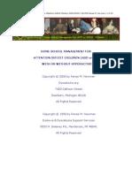 Adhd Management e Book