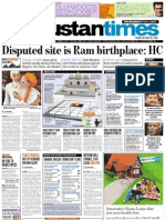 Shri Ram Janam Bhoomi Ayodhya High Court Verdict Newspaper Frontpage