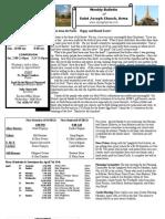 St. Joseph's April 8, 2012 Bulletin