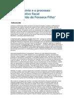 O Contribuinte e o Processo Administrativo Fiscal