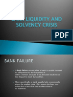 Bank Liquidity and Solvency Crisis