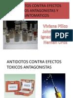 Antidotos Contra Efectos Toxicos Antagonistas y Sintomaticos