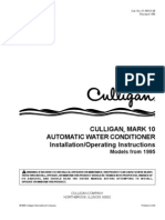 Culligan Water Conditioner 1994-1998