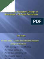 Earth Quake Resistant Design Codal_ProvisionsIS 1893