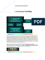 Softwares for Ecosystem Modelling