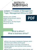 Management Ethics & Csr Final