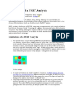 Limitations of a PEST Analysis