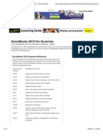 QuickBooks 2012 for Dummies Cheat Sheet - For Dummies