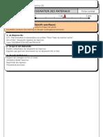 Exercice Designation Des Materiaux Fiche Contrat