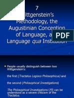 7 Wittgenstein's Methodology ...
