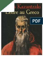 Lettre Au Greco - Kazantzaki Nikos