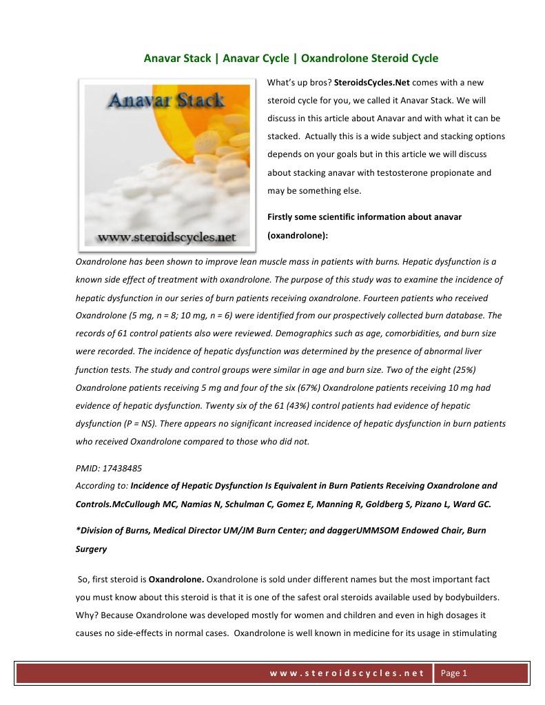 Anavar Stack | Clinical Medicine | Health Sciences