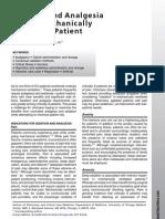 Sedacion y Analgesia en Ventilacion Mecanica Clin Chest Med 2010
