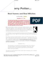 Harry Potter, Real Names & Real Witches