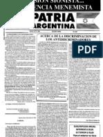 Patria Argentina numero 106-120