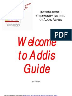 ICS Welcome to Addis Guide 3rd Edition | Ethiopia | Vaccines