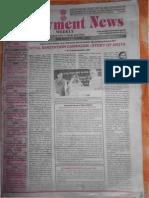 Employment News epaper | Rojgar Samachar | रोजगार समाचार New Delhi Edition 7 - 13 April 2012 Vol. XXXVII No. 1